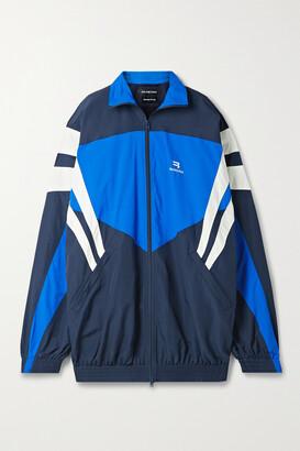 Balenciaga - Oversized Striped Shell Jacket - Blue