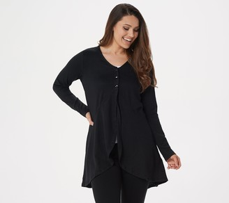 Logo by Lori Goldstein Knit Cardigan with Cascade Front