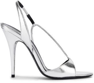Saint Laurent Anouk Sandals in Silver | FWRD