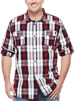 i jeans by Buffalo Milton Long-Sleeve Plaid Cotton Shirt - Big & Tall