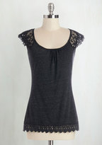 Grace and Lace Top in Charcoal in XL