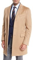 Neiman Marcus Camel-Hair Single-Breasted Topcoat