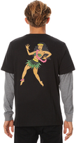 RVCA Hula Girl Double Sleeve Mens Ls Tee Black