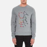 Carven Dot To Dot Print Sweatshirt Gris Chine