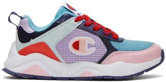Champion Reverse Weave Purple 93Eighteen SP Block Sneakers