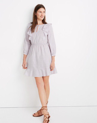 Madewell Ruffle-Shoulder Mini Dress