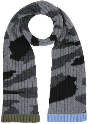 Valentino Camouflage Ribbed Knit Scarf