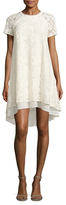 Rachel Roy Cap Sleeve Lace High-Low Dress