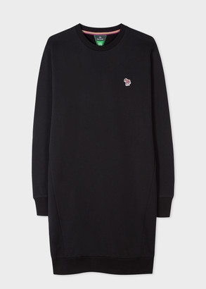Paul Smith Women's Black Organic-Cotton Zebra Logo Dress