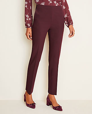 Ann Taylor The Petite Side-Zip Ankle Pant in Bi-Stretch