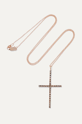 Ileana Makri 18-karat Rose Gold Diamond Necklace - one size