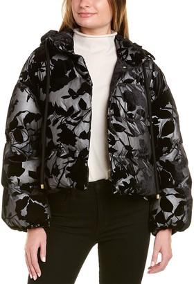 Moncler Isa Silk-Blend Down Jacket