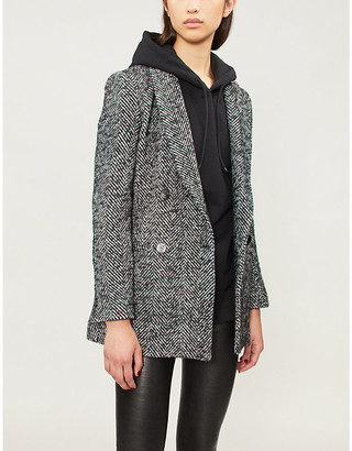 Pinko Attivazione double-breasted wool-blend blazer