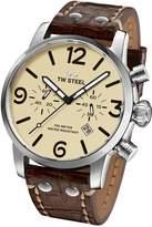 TW Steel Men's MS23 Maverick Analog Display Quartz Brown Watch
