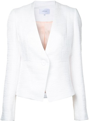 Carven Textured Fitted Blazer