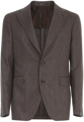 Tagliatore Linen Cotton Tone On Tone Jacket
