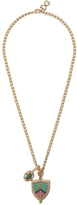 Dolce & Gabbana crest pendant necklace