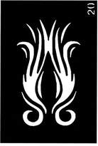 "Ongles d'Or Body Stencil (3"" x 4"") (Flames Fire)"
