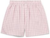 Sunspel - Checked Cotton Boxer Shorts