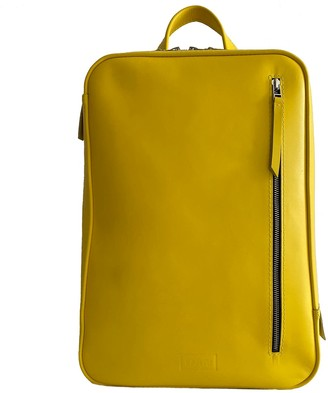 Leather Backpack Marjoram - Yellow