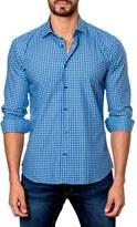 Jared Lang Men's Trim Fit Gingham Sport Shirt