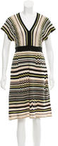 M Missoni Striped Midi Dress