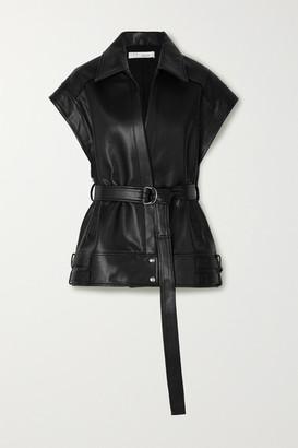 IRO Holz Belted Leather Vest - Black