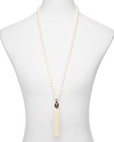 Sequin Color Karma Tassel Necklace, 30