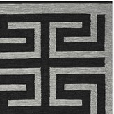 Williams-Sonoma Williams Sonoma Perennials® Greek Key Indoor/Outdoor Rug, Black