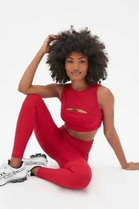 YEAR OF OURS Ribbed High-Neck Cutout Sports Bra