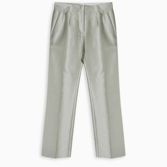 Max Mara Green shantung trousers