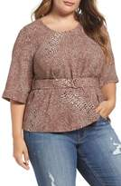 Melissa McCarthy Plus Size Women's D-Ring Belt Blouse