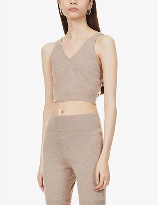 Frame Cropped cashmere vest top