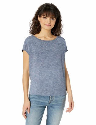 Daily Ritual Amazon Brand Women's Cozy Knit Dolman Short-Sleeve Tie-Back Shirt