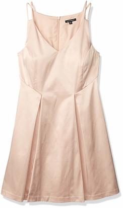 Paris Sunday Women's Sleeveless V Neckline Sateen Dress