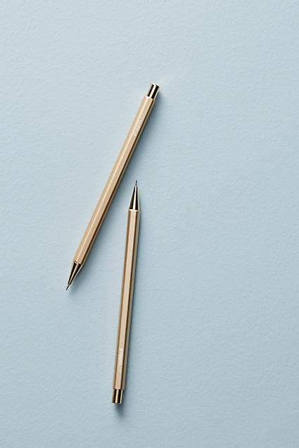 Poppin Gold Mechanical Pencil Set