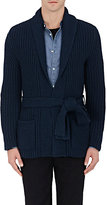 Eidos Men's Wool Long Belted Cardigan