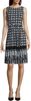 Liz Claiborne Sleeveless Pleated Fit-and-Flare Dress