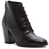 Summit by White Mountain Pelia Genuine Leather Lace-Up Bootie