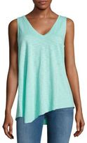 Asymmetrical V-Neck Tank Top