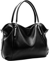 Heshe Leather Shoulder Handbags Vintage Work Tote Cross Body Bags for Womens and Ladies