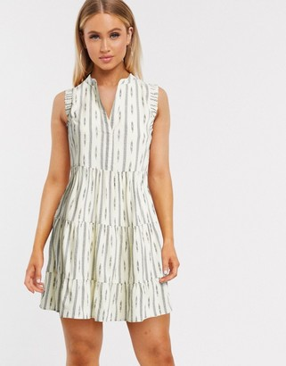 Only sleevless mini dress in geo-tribal print