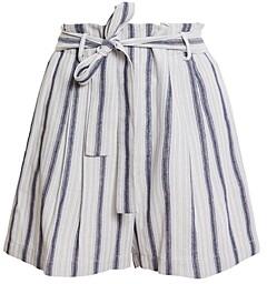 BCBGMAXAZRIA Striped Paperbag Shorts