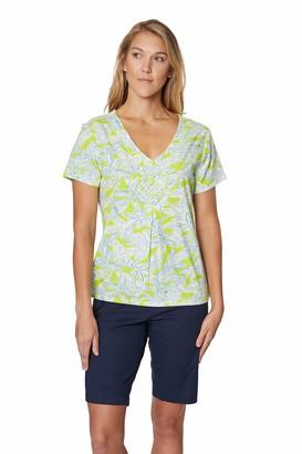 Caribbean Joe Women's Pot Holder Stretch Cotton Shirt