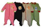 Sesame Street Elmo Cotton Baby Infant Sleepers Pajamas 3PK (3-6 Months, )