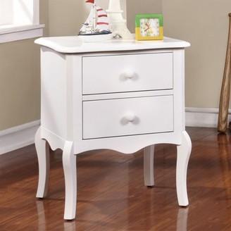 Furniture of America Roth 2-Drawer Nightstand, White