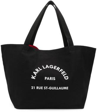 Karl Lagerfeld Paris Logo-Print Tote Bag