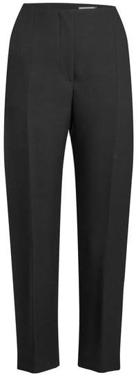 Alexander McQueen Wool and Silk-Blend Pants with Slits