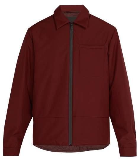 Prada Padded Zip Up Jacket - Mens - Burgundy