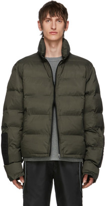 all in Green Puffy Winter Jacket